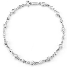 Costco: Round Brilliant Diamond Bracelet (0.96 ctw) 14kt White Gold