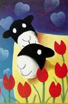 Mackenzie Thorpe Sheep in Love Sheep Paintings, Come And See, Cute Illustration, Baby Decor, Home Crafts, Hello Kitty, Disney Characters, Fictional Characters, Snoopy