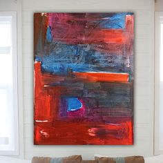 Huge Contemporary Original Modern Abstract Wall by LibbyEmiArt