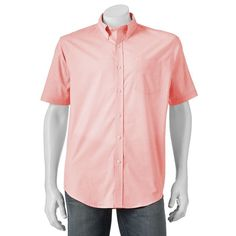 Big & Tall Croft & Barrow® True Comfort Classic-Fit Stretch Button-Down Shirt, Brt Orange