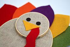 Gwenny Penny: Embroidery Hoop Turkey Tutorial