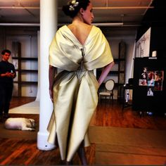 Fitting photo from #zacposen s/s14 #nyfw #cfdanyfw
