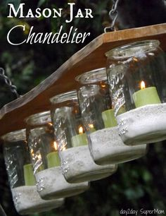 Mason Jar Chandelier - 27 Briliant DIY Home Decor Projects That Will Make Your Home Unique