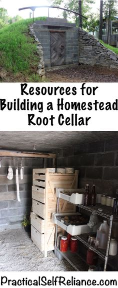Resources for Building a Homestead Root Cellar – Practical Self Reliance - DIY Garten Landschaftsbau Homestead Survival, Urban Survival, Survival Food, Prepper Food, Emergency Preparedness, Survival Skills, Plan Vida, Future House, Greenhouse Plans