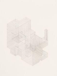 "Saatchi Online Artist: Nick Naber; Graphite, Drawing ""Construction 5"""