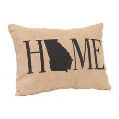 Show your Peach State pride with our Georgia Home Burlap Pillow! #Kirklands #Georgia #statepride