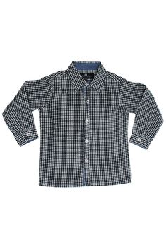 B/W Gingham Dress Shirt