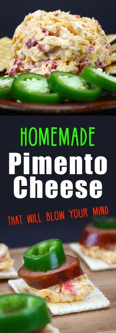 Homemade Pimento Cheese that will Blow Your Mind! - This stuff is amazing! So easy to make and 100 times better than the prepacked stuff. : dontsweattherecipe