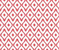 Southwest Diamonds Chevron - by fable_design - spoonflower)
