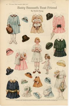 75.2911: Betty Bonnet's Best Friend | paper doll | Paper Dolls | Dolls | National Museum of Play Online Collections | The Strong