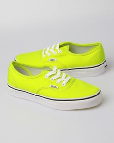 Vans Neon Authentic Sneakers - Yellow $46.00