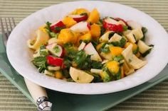Mango Salad Recipe with Hearts of Palm, Radishes, Lime, and Cilantro