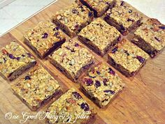 Make Your Own Chewy Granola Bars. THE Perfect Snack!One Good Thing by Jillee | One Good Thing by Jillee
