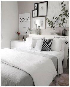 Bedroom decor - So ta aq por causa da cama cottagebedroom Room Ideas Bedroom, Home Bedroom, Bedroom Decor, Modern Bedroom, Contemporary Bedroom, Nursery Ideas, Master Bedroom, Ikea Bedroom, Bedroom Furniture