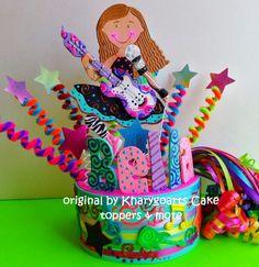 Rock Star Birthday cake topper children or birthday party centerpiece | kharygoarts - Children's on ArtFire