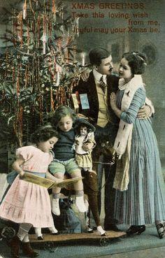 1920 Vintage Christmas Card