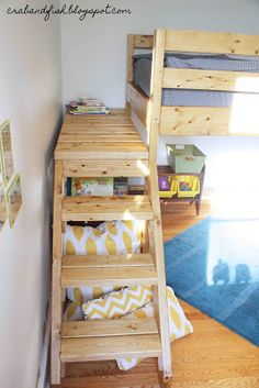 stairs to a platform for bunk