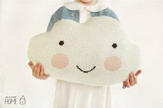 Knit Cloud Pillow :) ECRU