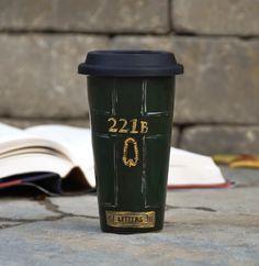 Sherlock Holmes Ceramic Travel Mug - Custom Personalized Mug - Mystery lover Eco Cup Lid - Stonehenge Art - literary gift by PictureInADream on Etsy https://www.etsy.com/listing/204888033/sherlock-holmes-ceramic-travel-mug