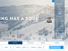 Sneak peak at an upcoming design for Squaw Valley + Alpine Meadows. This shot is of the booking widget and weather dropdown / main home page slider. Interface Web, User Interface Design, Interactive Websites, Interactive Design, App Design, Layout Design, Web Grid, Ui Web, Digital Strategy