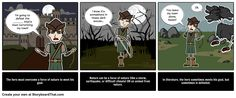 Here is our Man vs. Nature Literary Conflict storyboard demonstration.