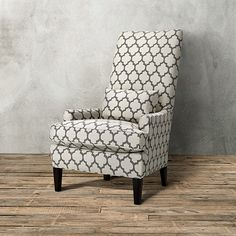 Platinum Accent Upholstered Chair In Medina Pewter   Arhaus Furniture
