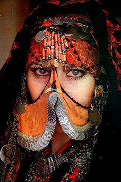 Portrait of a Jordanian woman.
