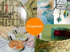 crafts from your old road atlas via sunniest.ru