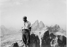 Dino Buzzati in montagna nel 1929.
