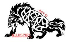 Fierce Celtic Wolf Tattoo by WildSpiritWolf