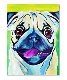 Look at this #zulilyfind! DawgArt 'Pugilicious' Gallery-Wrapped Canvas by  #zulilyfinds