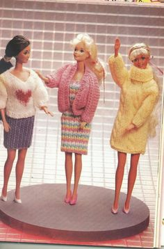 Herbie's Doll Sewing, Knitting & Crochet Pattern Collection: Knit Fashion Flair - Fashion Doll Wardrobe - 5 Items; Beginners to Experienced Knitters
