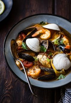The Bojon Gourmet: Cioppino with Fennel and Saffron #seafoodrecipes