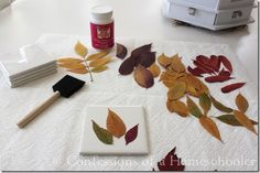 Ohhhhh modge podge fall leaves on canvas!!! Can we do this on a creative canvas night???