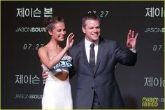 Matt Damon & Alicia Vikandar Continue 'Jason Bourne' Press In South Korea!: Photo #3701505. Matt Damon is dapper in a suit while attending the premiere of his new film Jason Bourne held on Friday (July 8) in Seoul, South Korea.    The 45-year-old actor…