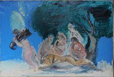 20140127_auction1.jpg (600×409)  СЛЕПЫШЕВ Анатолий Степанович (1932) Обнаженные под деревом. 1976. Холст, масло.