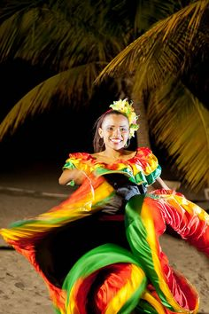 Cumbia dancer, Colombia The Cumbia originated in Colombia's Caribbean coastal region and Panama, ... Cumbia began as a courtship dance practiced among the African population