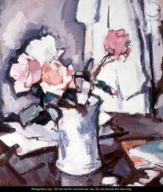 Pink Roses, by Samuel John Peploe (Scottish, 1871-1935)
