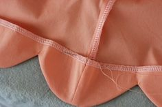 scalloped hem tutorial