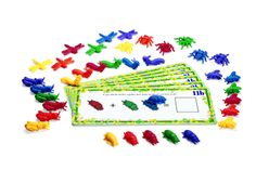 Busy Bugs  Early math concepts are much easier to comprehend with this hands-on set of 36 colorful, textured bugs. Watch the light bulb click on as children employ the buggy manipulatives to complete the 23 progressively challenging activities on double-sided cards. Learn in 3D: sorting, categorization, matching, sequencing, patterning, addition/subtraction, and more.