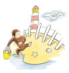 Summer beach & lighthouse
