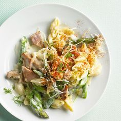 Quick Summer Dinners. Ham and Asparagus Macaroni The secret to this summertime pasta is in the sauce. Fresh lemon peel brightens up the dish and brings out the flavor of fresh asparagus. START TO FINISH: 30 MINS