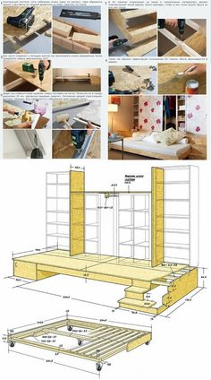 Mega Ikea Hack: Aus dem Billy und Kallax Regal wird ein Bücherregal-Lesepodest mit Gästebett // Ultimate Ikea hack: How to transform Billy and Kallax Shelves to a bookwall-reading-plattform with guest bed!