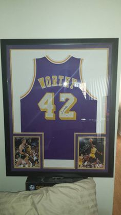 c3520f6268a Framed jersey of  Laker legend  JamesWorthy  FramedJersey  JerseyFraming Framed  Jersey