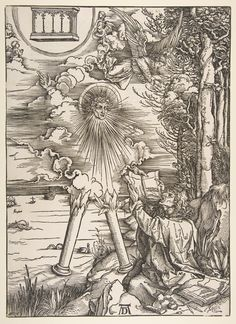 St. John Devouring the Book, from the Apocalypse series, date n d. Germany. Metropolitan Museum of Art.item image #0