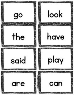 FREEBIE Sight Word Flashcards - Color & BW