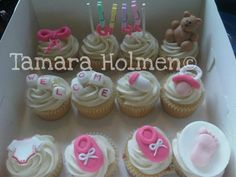 Baby girl cupcakes for a client of mine's newest family member