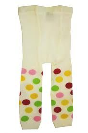 Oobi Pop Dot leggings - worn by my daughter in her first year