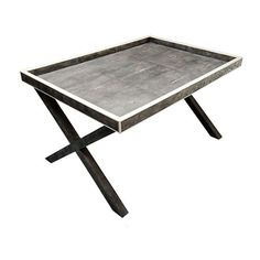 Adelphi X Frame Butlers Tray in Shagreen and Bone