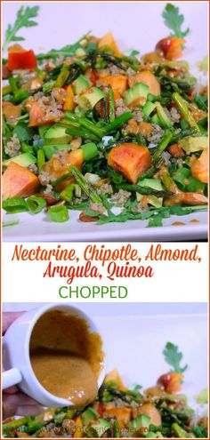Nectarine, Chipotle, Almond, Arugula, Quinoa Chopped The Kitchen Chopper